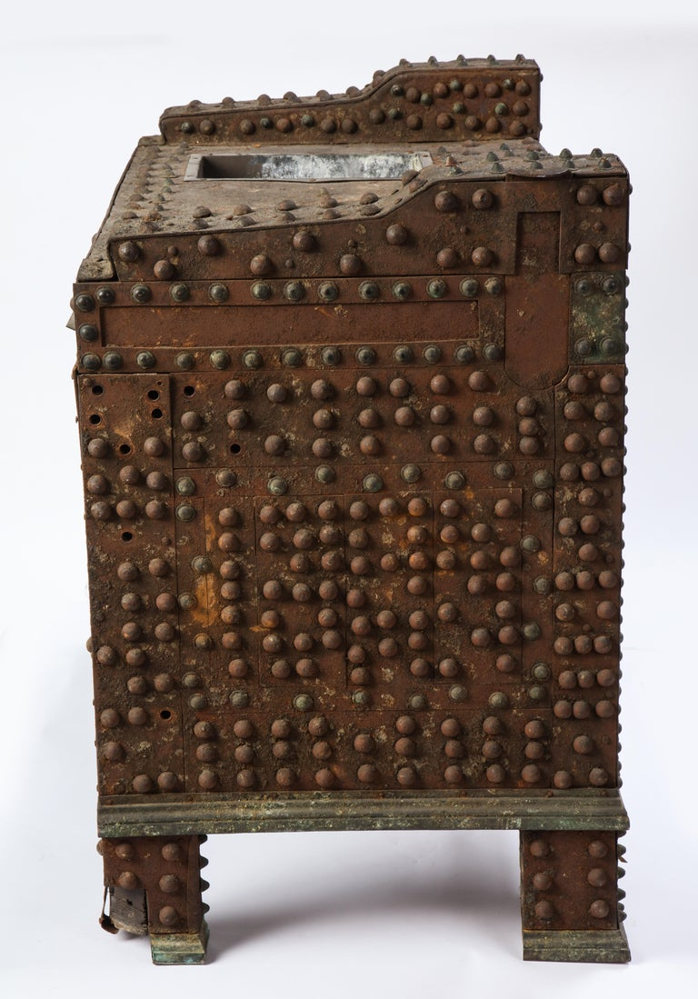 Patinated-Bronze Model of a Safe, After The Antique, 20th Century For Sale 9