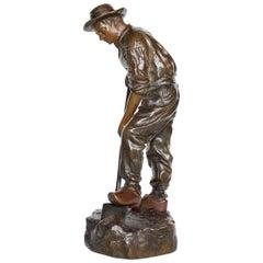 Patinated Bronze Sculpture by Jean Garnier Signed J Garner to Base, circa 1890
