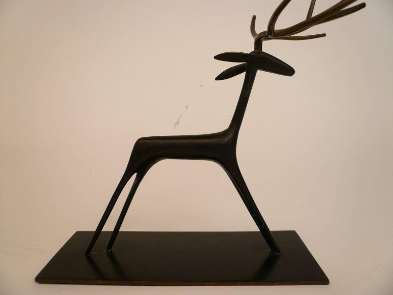 This whimsical sculpture of a stag is from the famed Werkstatte Hagenauer Wien.