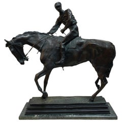 Patinated Bronze Sculpture of Le Grand Jockey by Isidore J. Bonheur