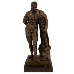 Patinated Bronze Statue of Hercules