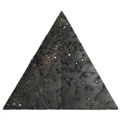 """Patinated Bronze Triangle by Ricky Swallow: """"Plate 21"""", 2010"""