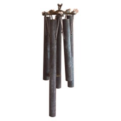 Patinated Bronze Wind Chimes in the Style of Walter Lamb