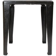 1920s Patinated Cast Iron Industrial Table