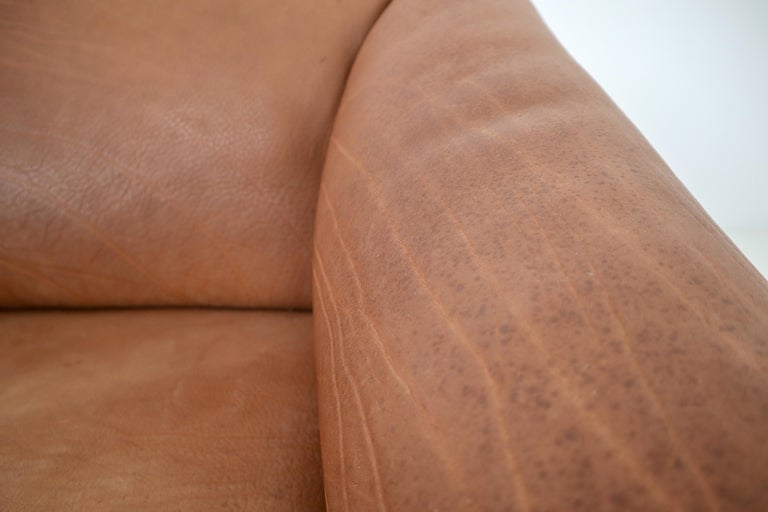 Swiss Patinated Cognac Leather