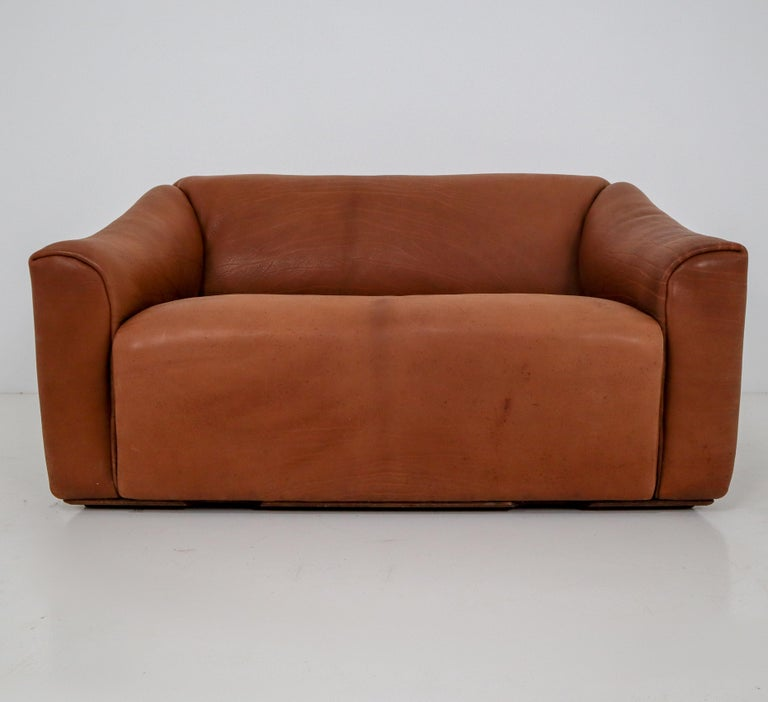 20th Century Patinated Cognac Leather