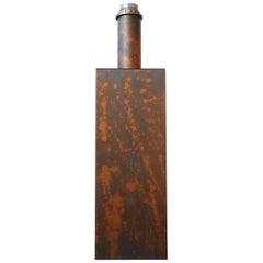 Patinated Copper Mid-Century Belgium Table Lamp