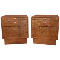 Patinated Copper Sheet Clad Nightstands or Chests