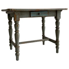 Patinated French Country Farm Side Table, French, 1920s
