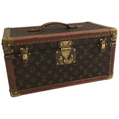 Patinated Louis Vuitton Train Case Louis Vuitton Beauty Case, France, 1990s