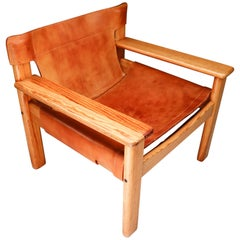 Patinated Lounge Chair by Karin Mobring, Sweden, 1977