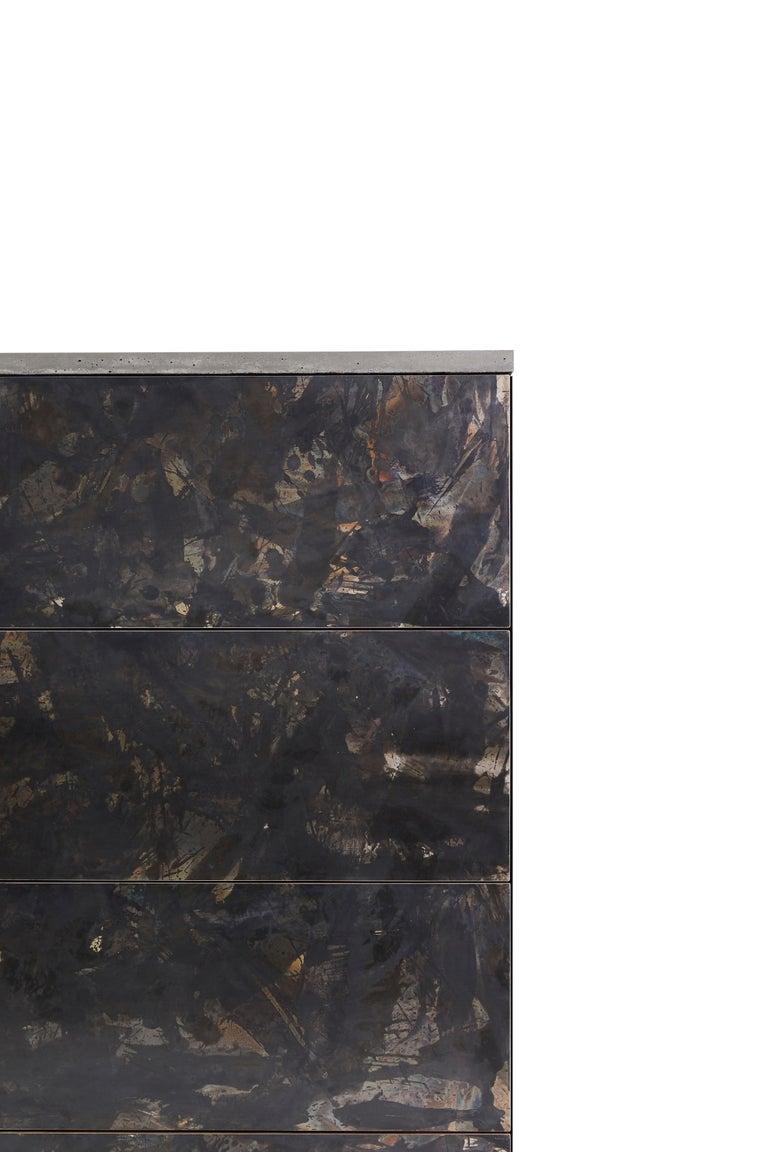 Minimalist Patinated or Blackened Steel