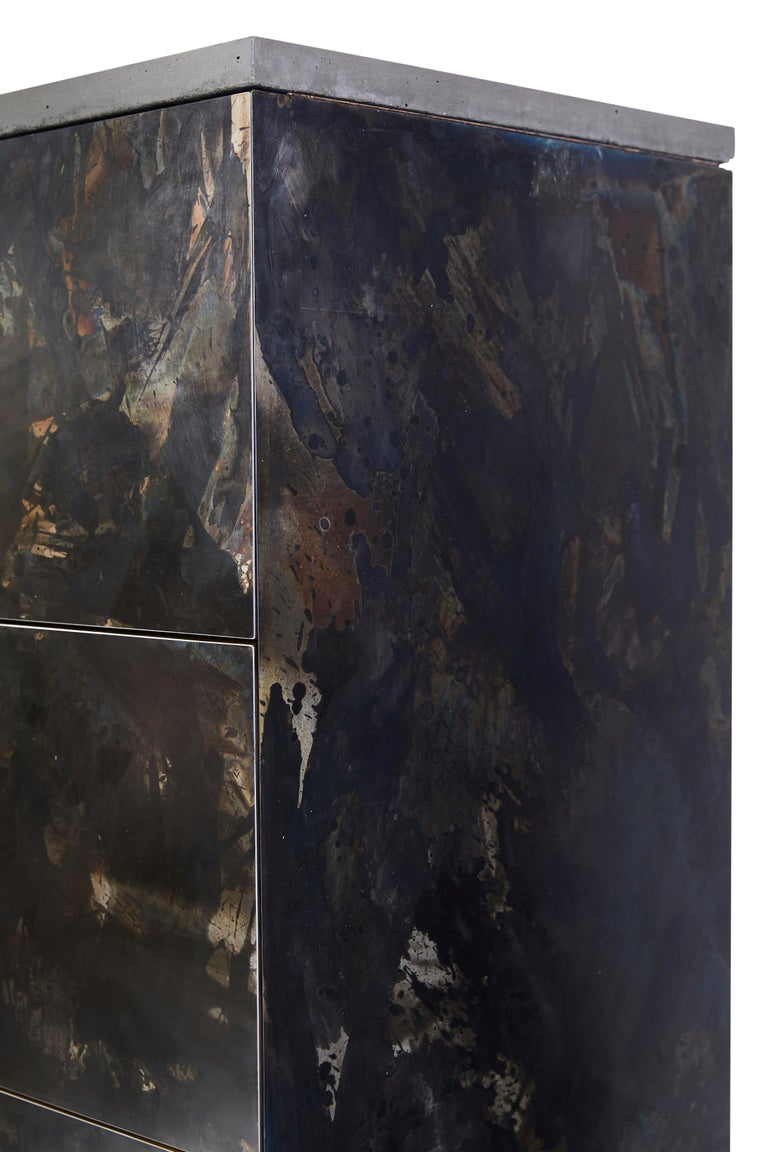 Patinated or Blackened Steel