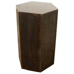 Patinated Steel Modern Side Table from Costantini, Ettore Hex 'In Stock'