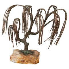 Patinated Willow Tree Sculpture