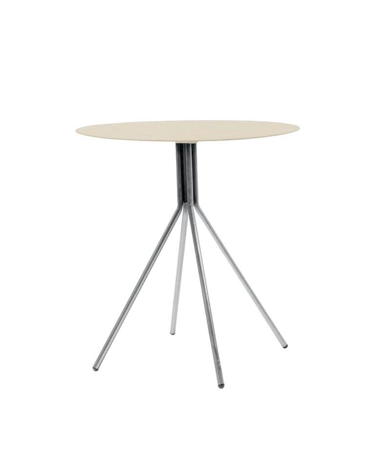 Swiss Patio Furniture Set by Dietiker, Indoor/Outdoor, in Le Corbusier Beige/Tan For Sale