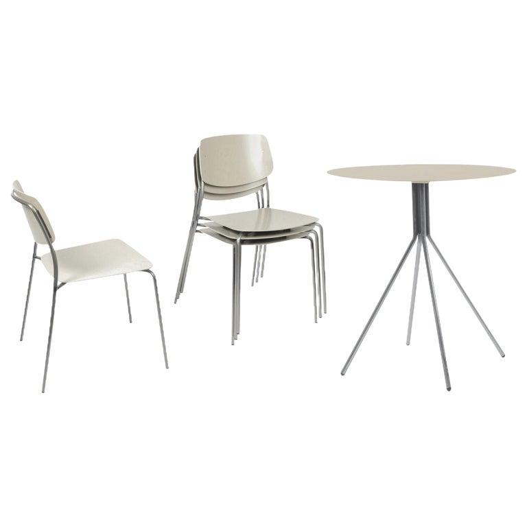 Patio Furniture Set by Dietiker, Indoor/Outdoor, in Le Corbusier Beige/Tan For Sale