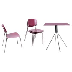 Patio Furniture Set by Dietiker, Indoor/Outdoor, in Wine Red