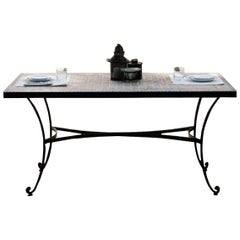 Patio, Garden, Kitchen or Dining Room Table in Wrought Iron. Indoor & Outdoor