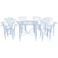 Patio Set Consisting of Six Chairs and Table
