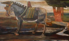 Paton Miller, Mule and Plow, Oil on Panel