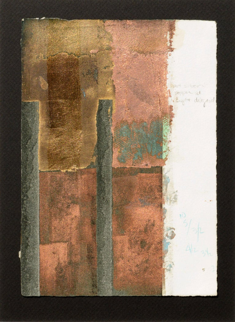 Copper and Gold Leaf Variations - Print by Patricia A Pearce
