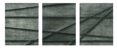 Black and Grey Rods Collotype Triptych