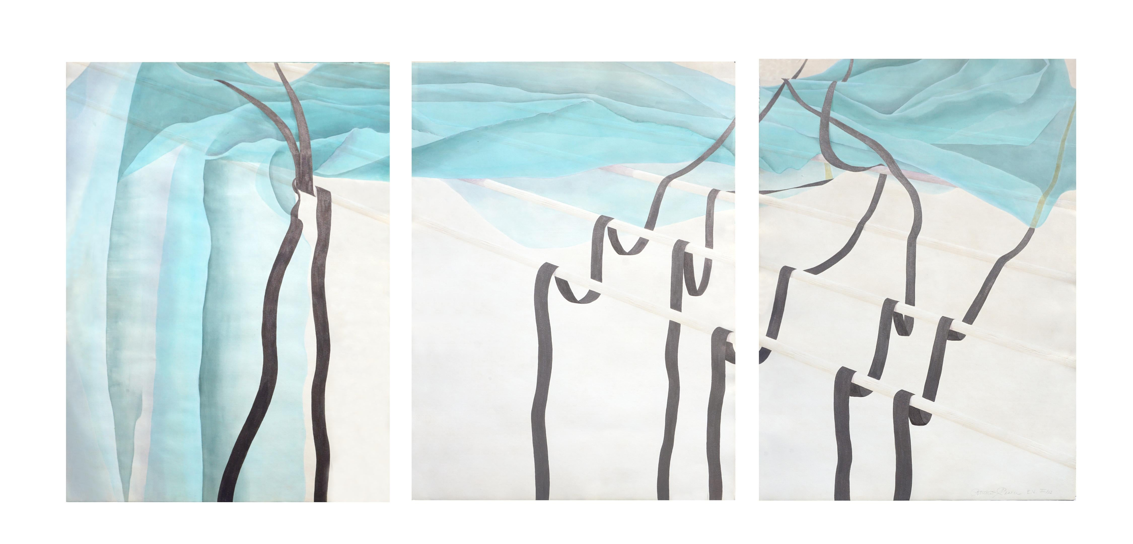 Copper Falls Southwest Collotype Abstract Triptych