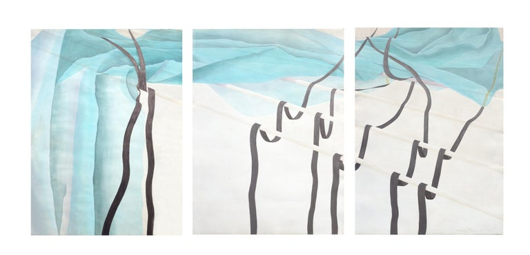 Patricia A Pearce Abstract Print - Copper Falls Southwest Collotype Abstract Triptych