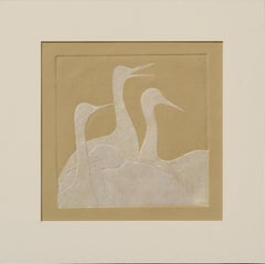 Four Swans - Paper Composition