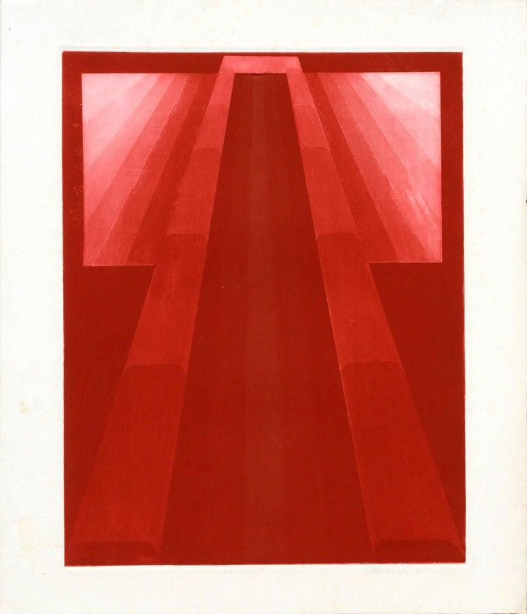 "Patricia A Pearce Abstract Print - ""Kimono 8"" (Red)"