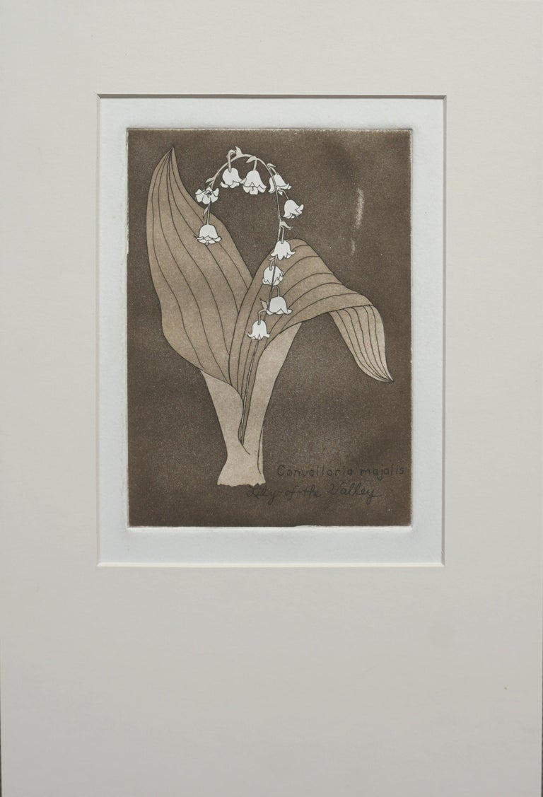 """Patricia A Pearce Still-Life Print - """"Lily of the Valley"""" - Lithograph"""
