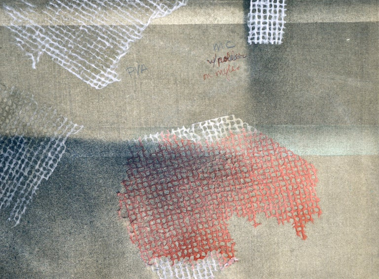 Mixed Media Abstract Geometric: 2-Sided, Hand-Augmented Collotype For Sale 7