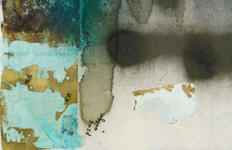 Mixed Media Abstract Geometric: 2-Sided, Hand-Augmented Collotype - Print by Patricia A Pearce