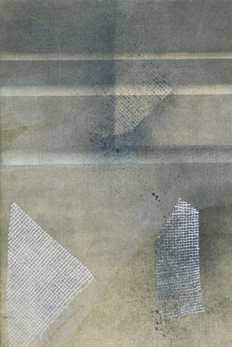 Mixed Media Abstract Geometric: 2-Sided, Hand-Augmented Collotype For Sale 5