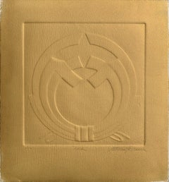 """Noshi"" Embossed Symbolic Composition (Bronze Version)"