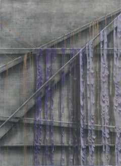 """Purple Shreds for a Robe"" - Hand-Augmented Collotype"