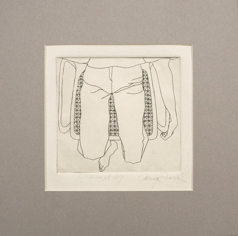 "Patricia A Pearce Abstract Print - ""Reflections at 29"" -  Kimono series Lithograph"