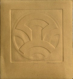 """Zeni"" Embossed Symbolic Composition (Bronze Version)"