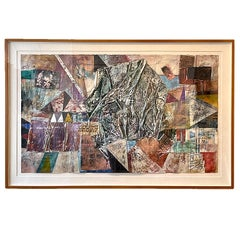 Abstract Postmodern Mixed Media Collage 'Charms and the Man' by Patricia Beatty