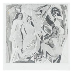 Patricia Beck Photography of Picasso Painting Les Demoiselles d'Avignon, 1963