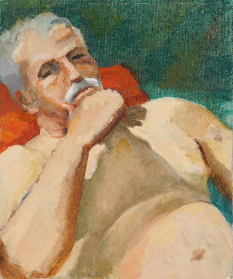 Patricia Emrich Gillfillan Figurative Painting - Reclining Male Nude Study