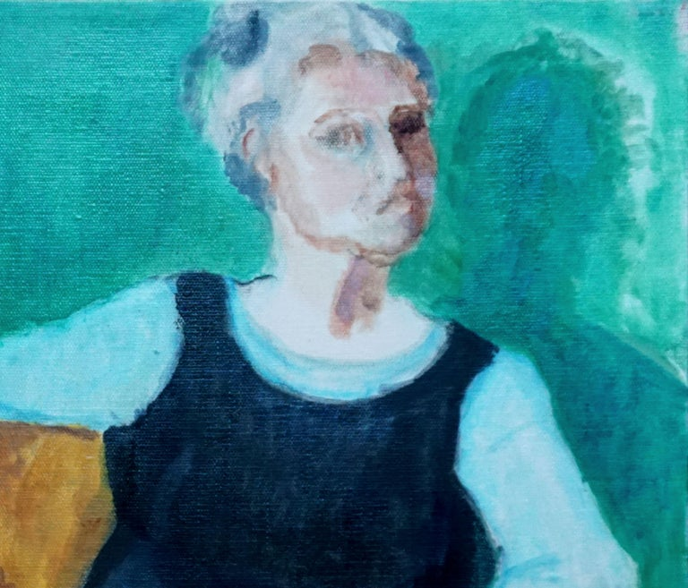 Female Figure with Paintbrushes  - Painting by Patricia Gillfillan