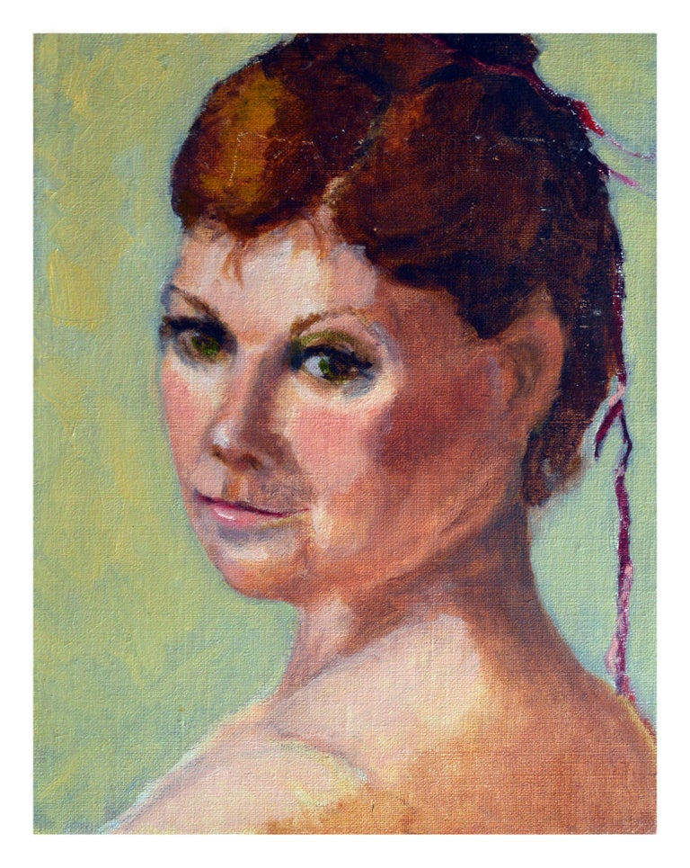 Patricia Gillfillan Portrait Painting - Portrait of a Woman with Green Eyes