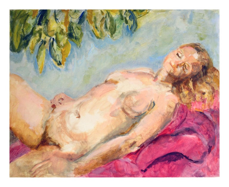 Patricia Gillfillan Figurative Painting - Reclining Nude Figurative