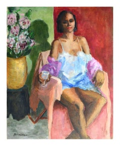 Relaxing in Boudoir - Figurative