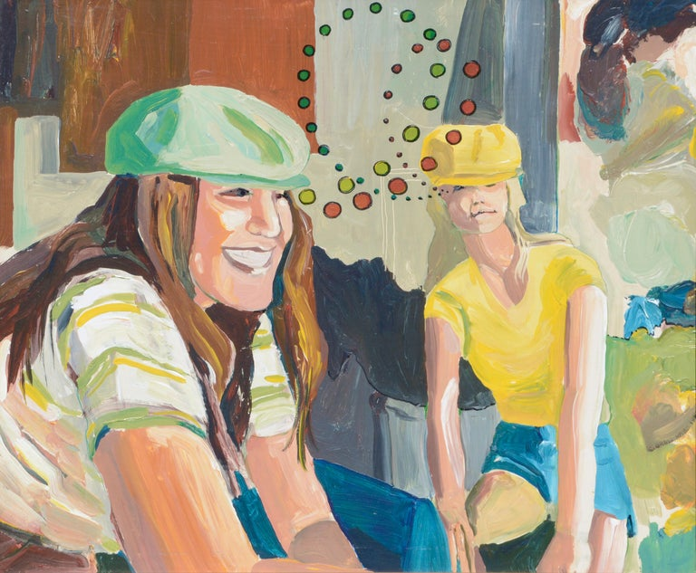 Cyclists in Love - Painting by Patricia Gren Hayes
