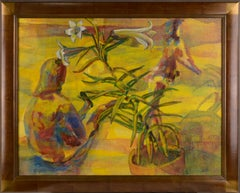 """""""Easter Lily & Spring Dancers"""" - Figurative Floral Abstract"""