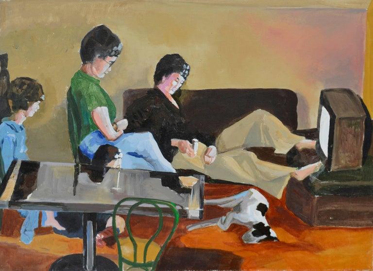 "Patricia Gren Hayes Figurative Painting - ""Madam Suburbia"" Figurative  Berkeley School"
