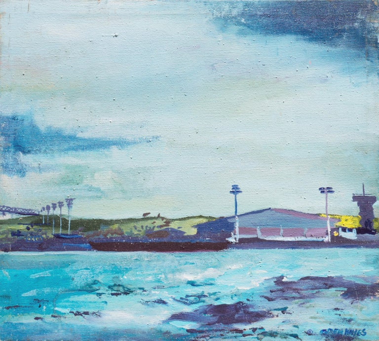 Patricia Gren Hayes Landscape Painting - 'Oakland Estuary', Bay Area Woman Artist, SFMOMA, Winnipeg Museum of Art